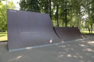Бенк с выкатом высотой 4,3м в скейт-парке в г.Йошкар Оле