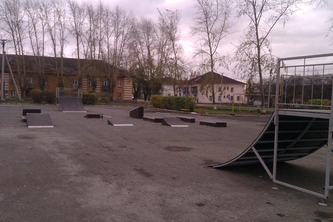 Небольшой скейт-парк в г. Арамиль, Свердловская обл.