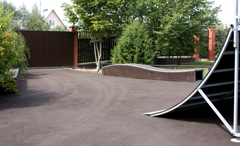 Скейт-парк в Рузском районе, поселок Павшино, МО