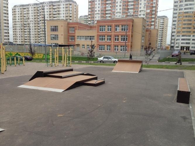 """Скейтпарк в ЖК """"Солнцево-парк"""", г. Москва"""