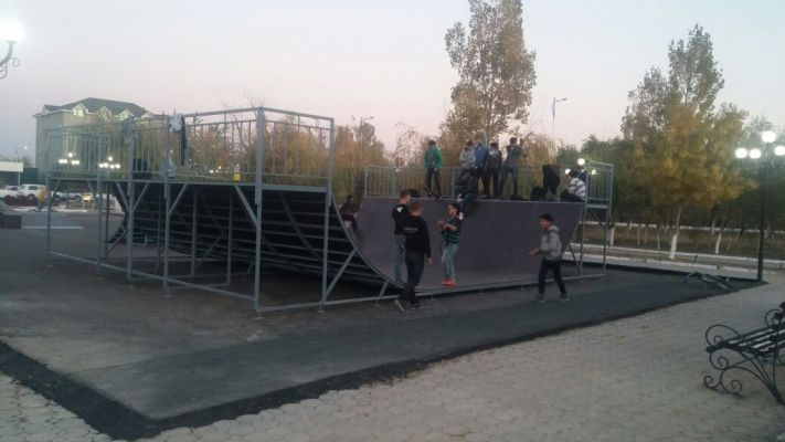 Поставка оборудования для скейт-парка, паркура и воркаута в г. Кызылорда
