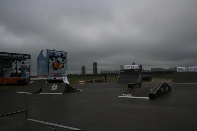 Скейт-парк для rap фестиваля MIR, г.Москва
