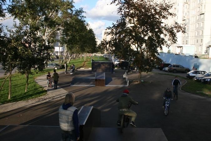 Скейт-парк на Ленинском проспекте, г.Москва