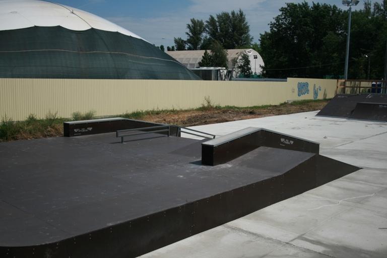 Открытие первого в Ростовской области скейт-парка в г.Аксае.