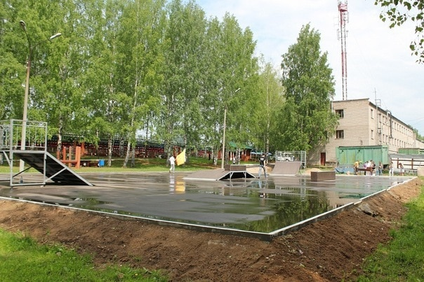 Скейт-парк в г. Киров, Нововятский район
