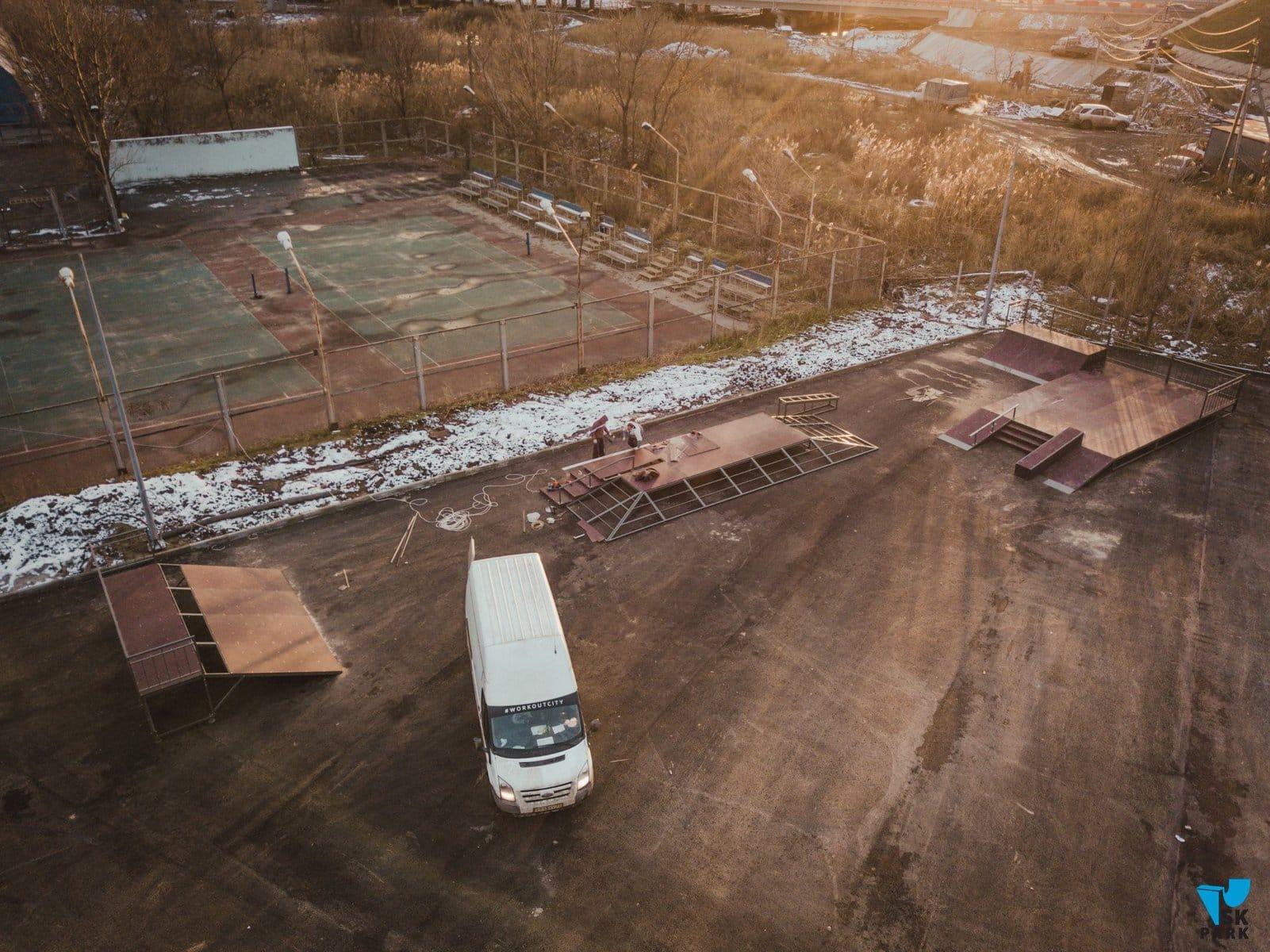 SK PARK начала монтаж скейтпарка в г. Ростове-на-Дону