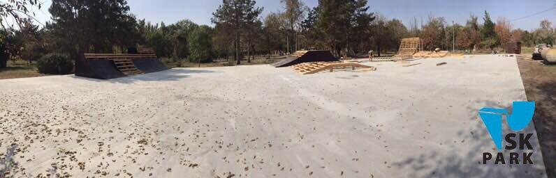 Компания SK PARK приступила к строительству скейт парка в г. Армянск