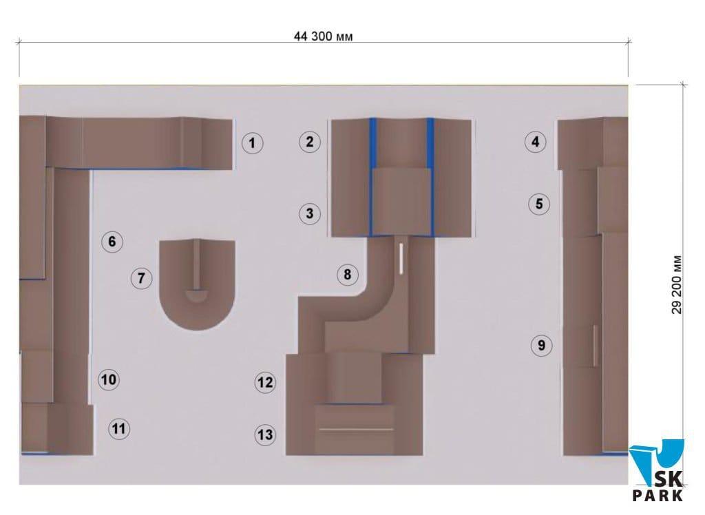 план BMX парка