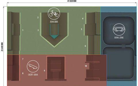 план универсального скейт парка