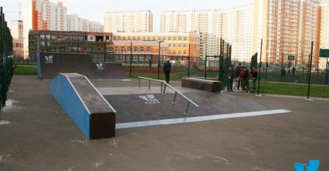скейт площадка в жилом комплексе