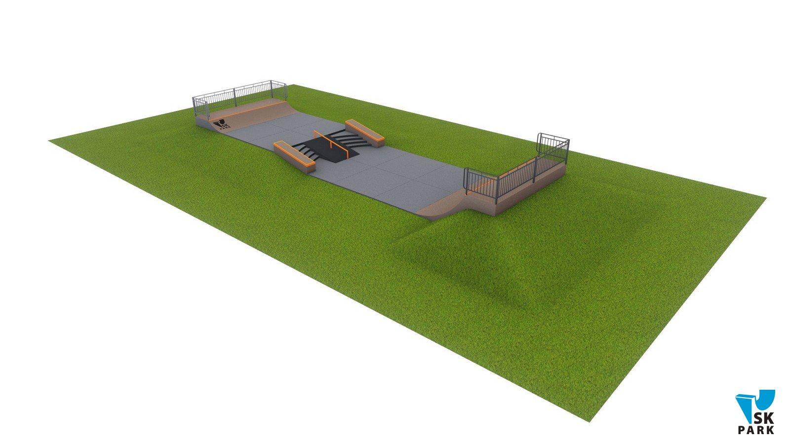 Проект бетонного скейт-парка SKB-01