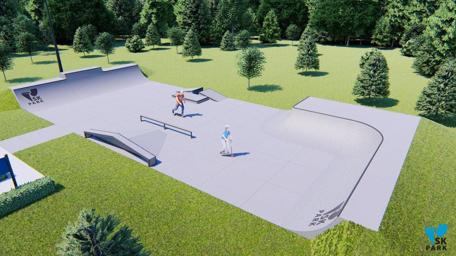 Проект бетонного скейт-парка SKB-02