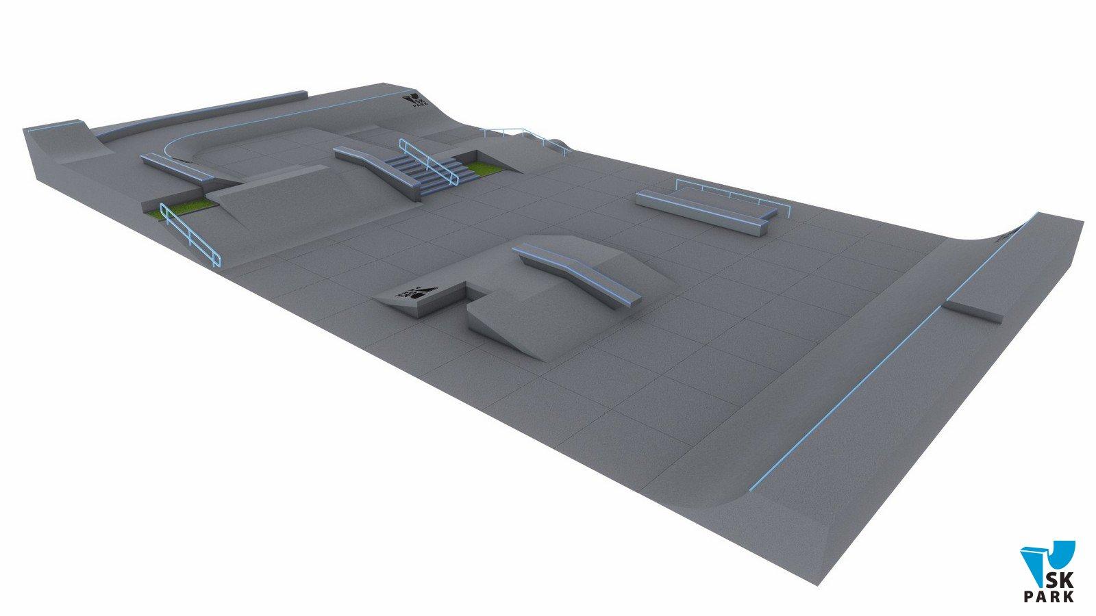 Проект бетонного скейт-парка SKB-06