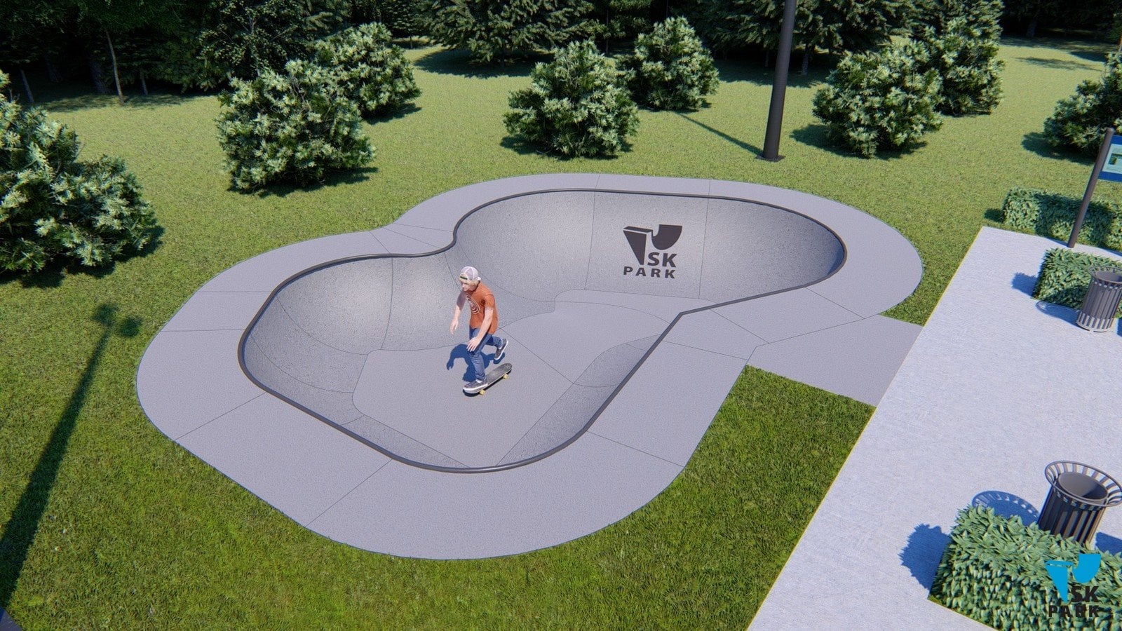 Проект бетонного разноуровневого боула SKBB-04