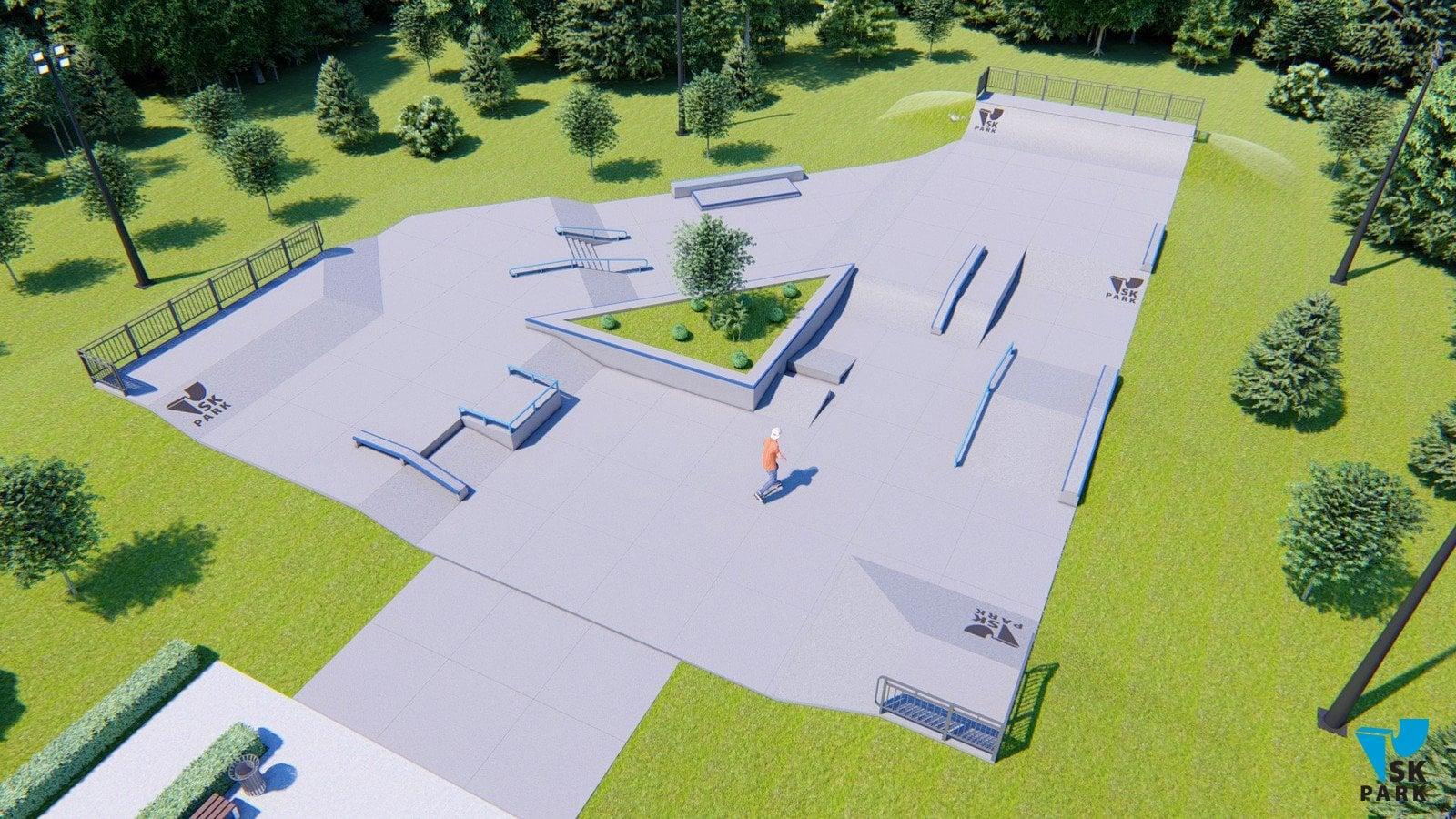 Проект бетонного скейт-парка SKB-05