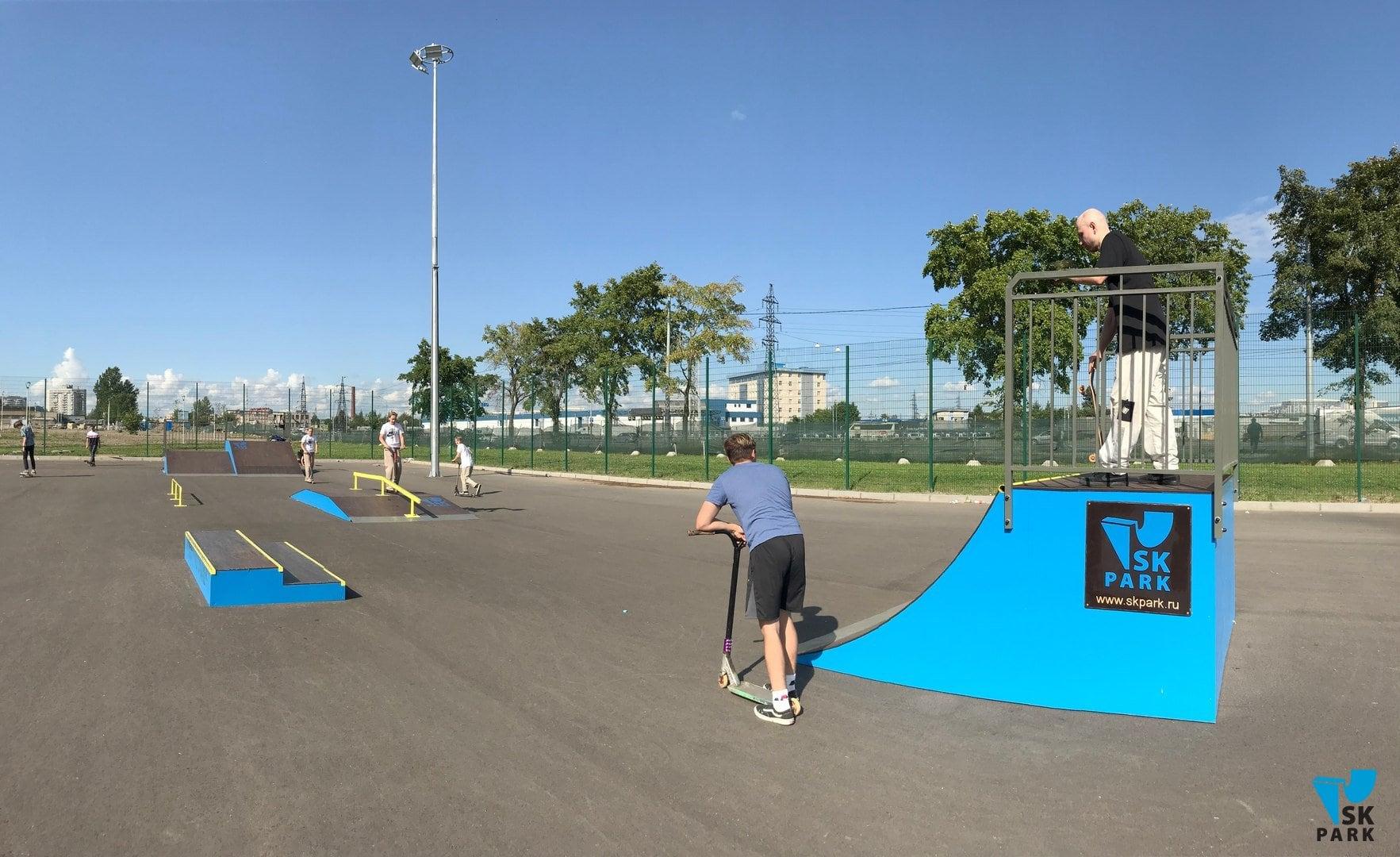 Мультфункциональный скейт парк в Санкт Петербурге / Skate park in St. Petersburg by SK PARK