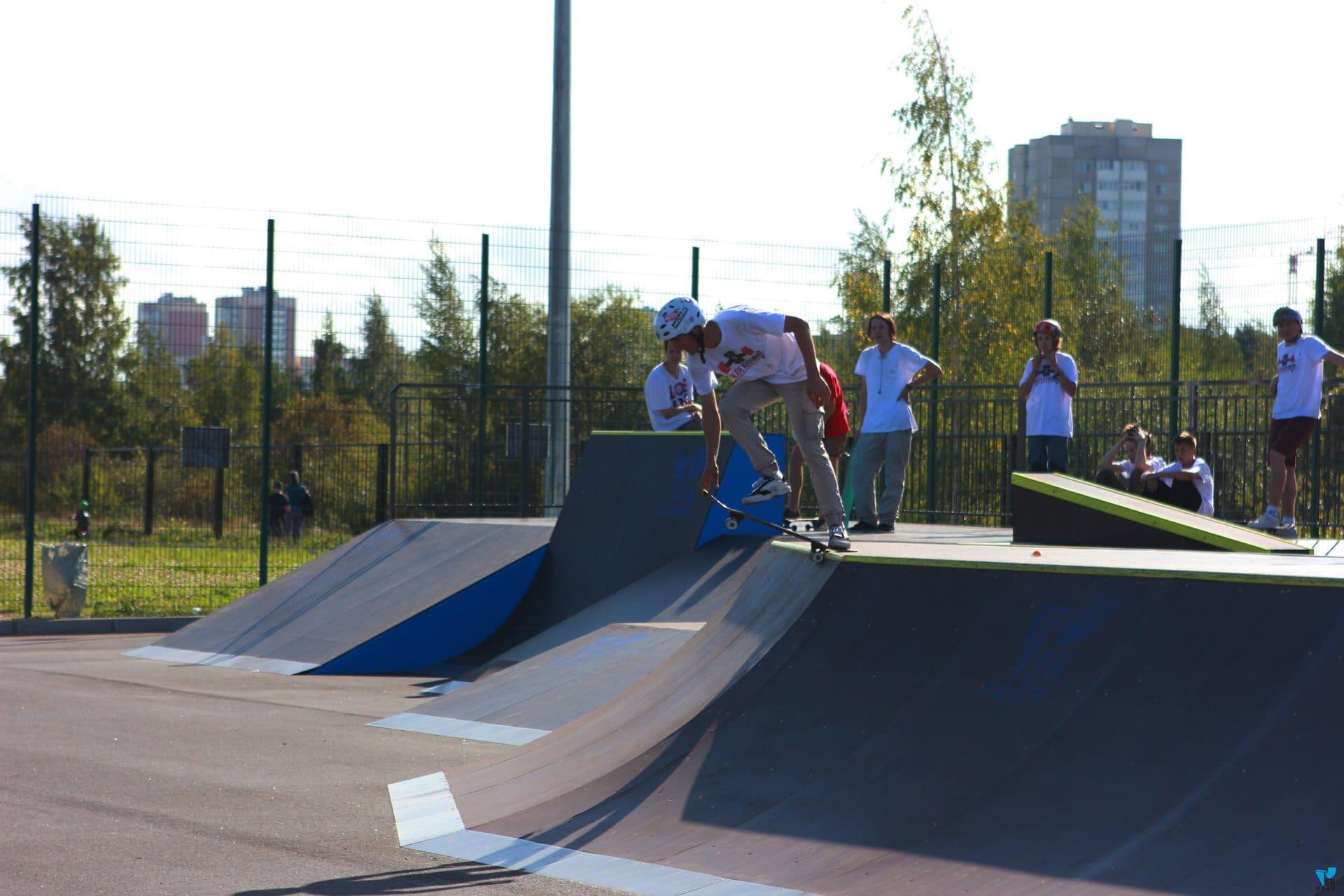 Открытие скейт парка SK Park в Санкт петербурге