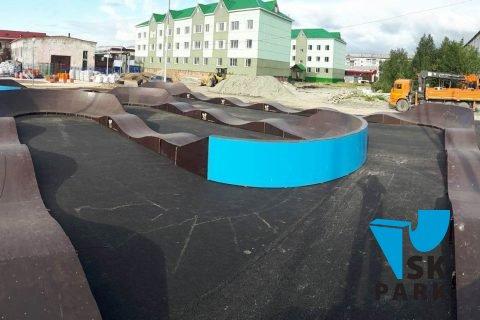 Фото Модульный памп трек в п.Харп (ЯНАО) / Modular pump track in Harp, Russia