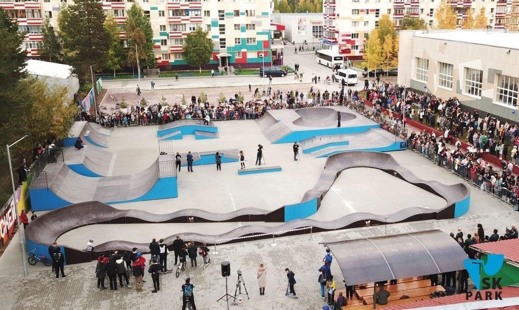 Спортивный кластер: Скейт парк и памп трек в г. Белоярский