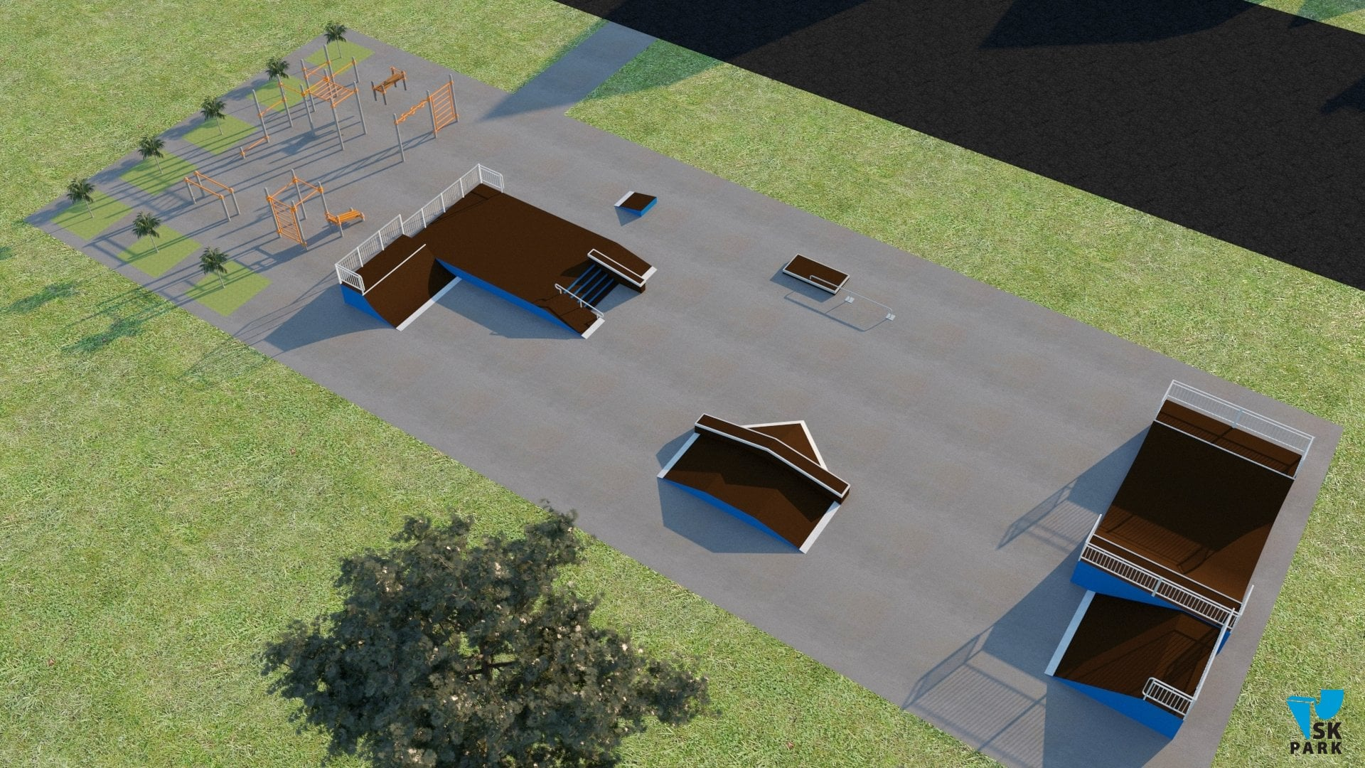 Строительство Скейт парка и воркаут площадки в Тамани