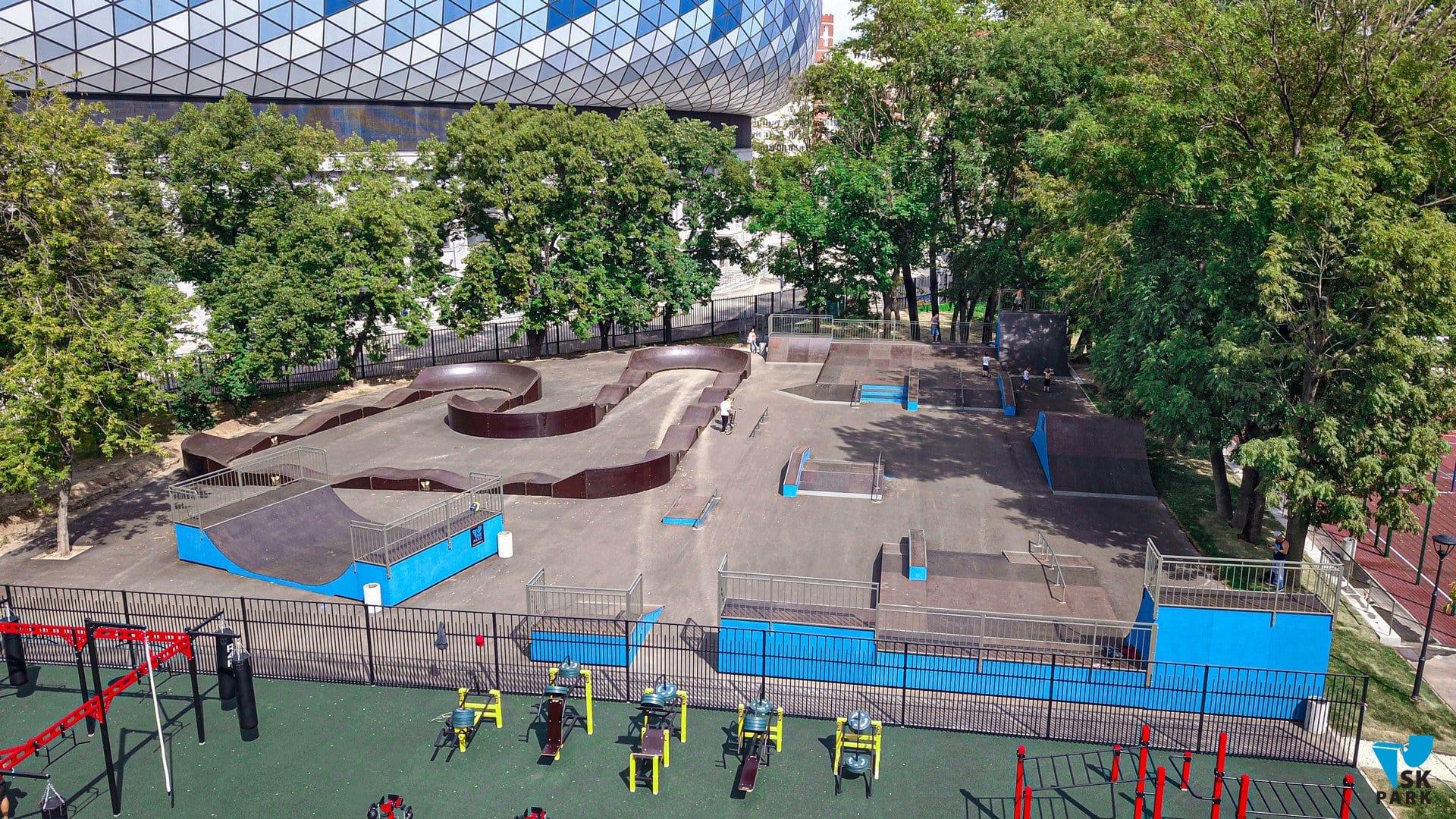 Скейт парк в Москве, ВТБ арена | Skate park in Moscow, VTB arena
