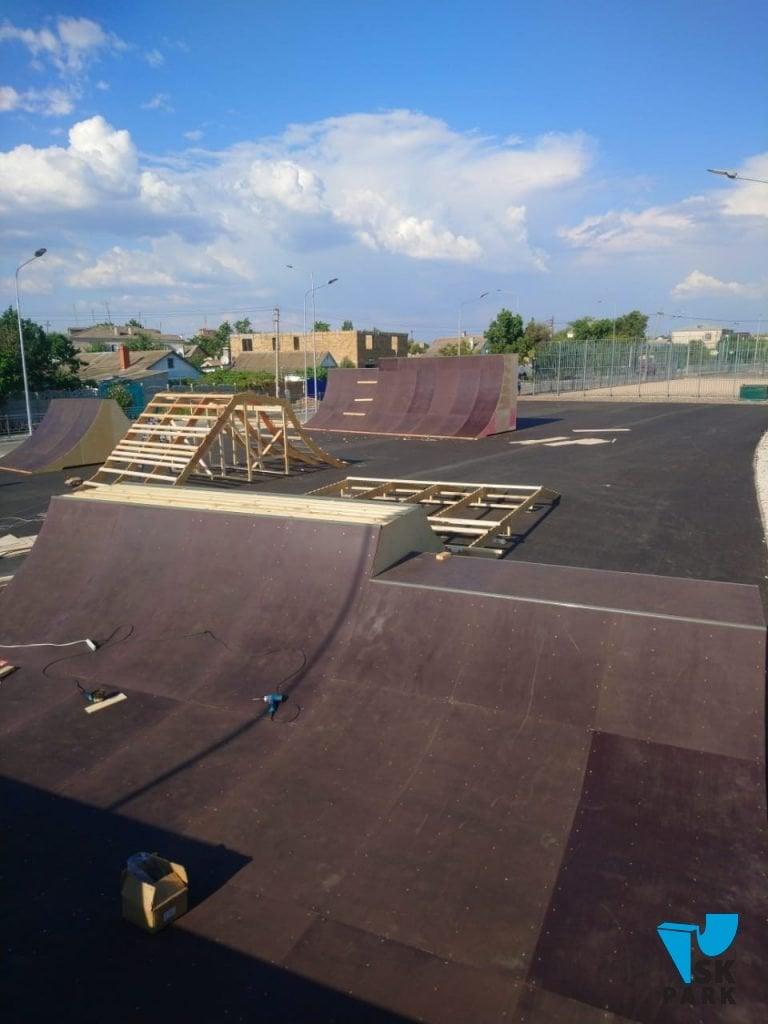 Монтаж скейт парка в г.Саки