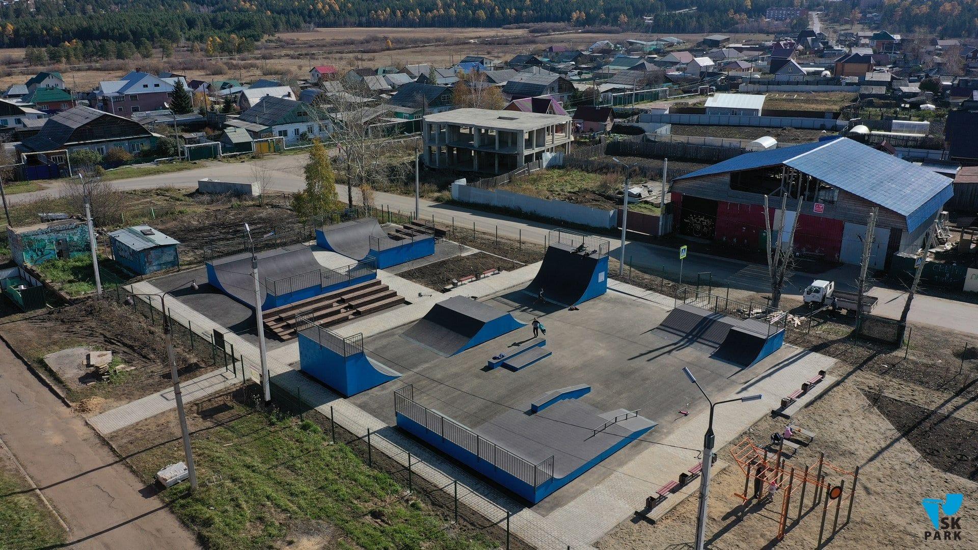 Новые скейт парк и воркаут площадка в Иркутской области