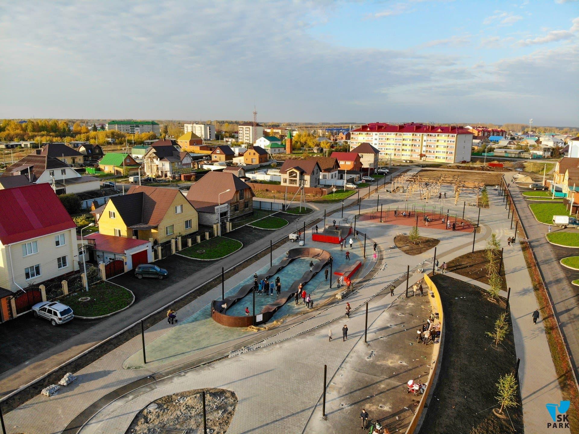 Новый скейт парк с памп-треком в городе Ишим