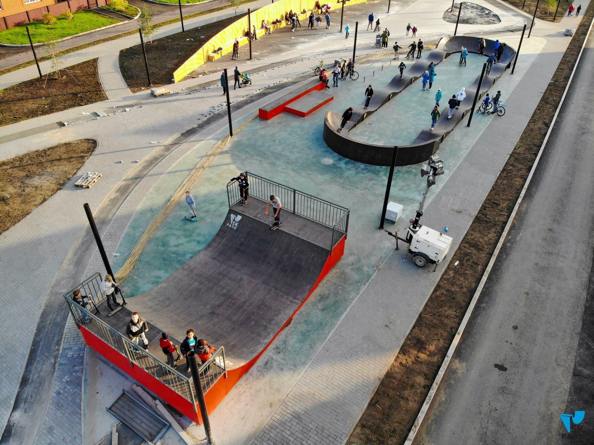 Скейт парк с памп-треком в городе Ишим