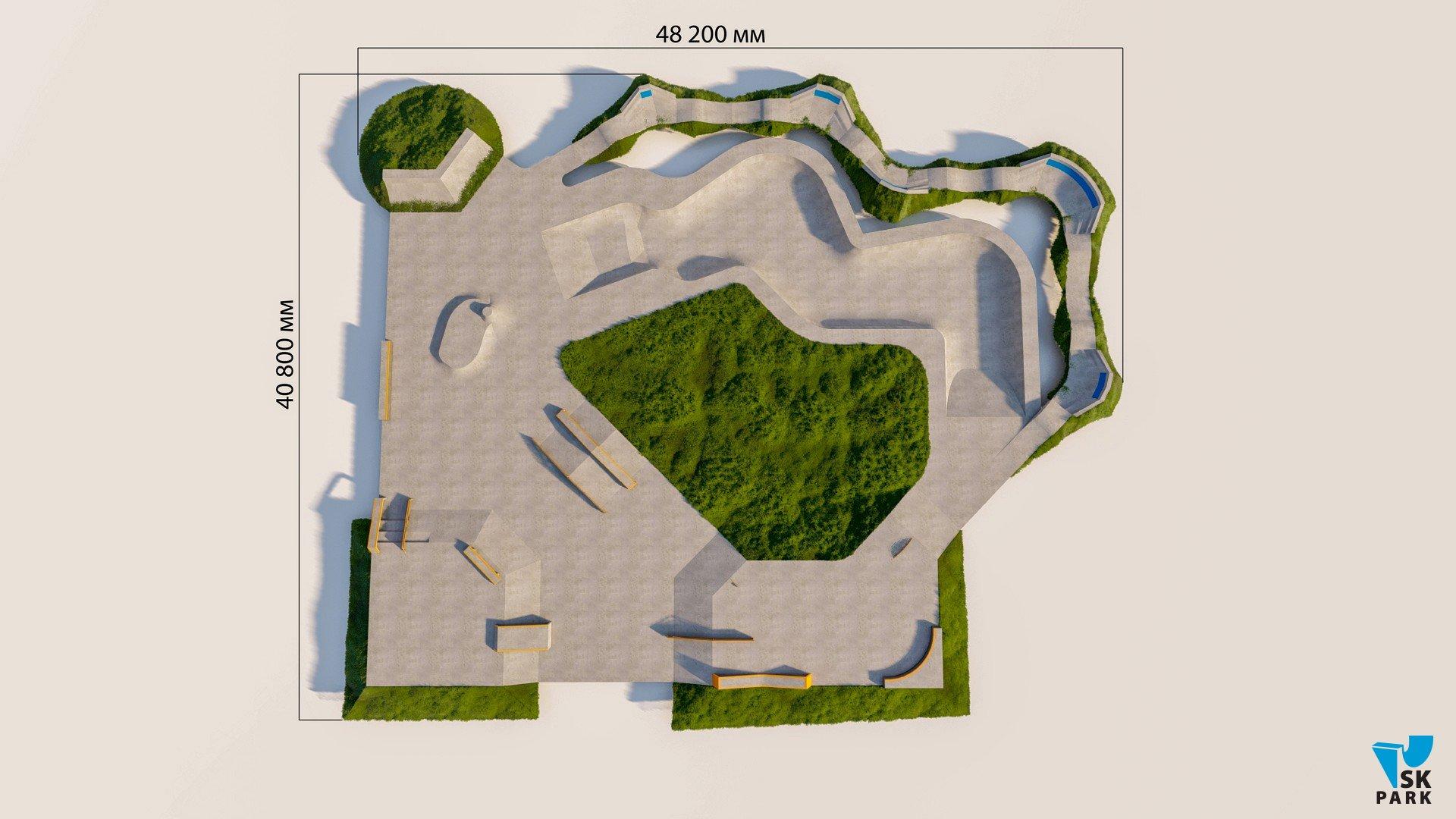 Бетонный скейт-парк SKBP-01