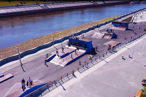 Фото Универсальный скейт-парк в г. Тюмень