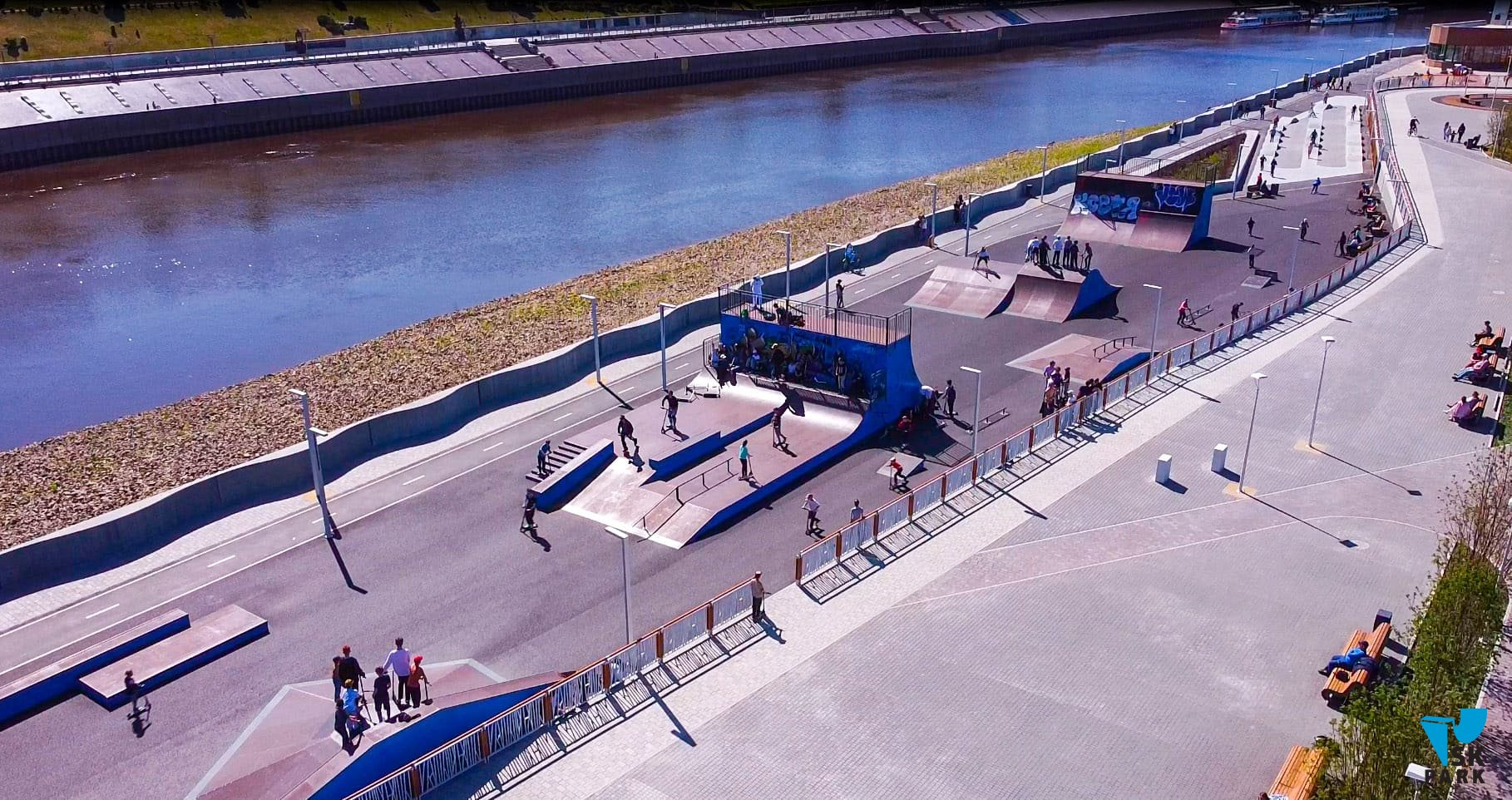 Новый универсальный скейт-парк в г. Тюмень