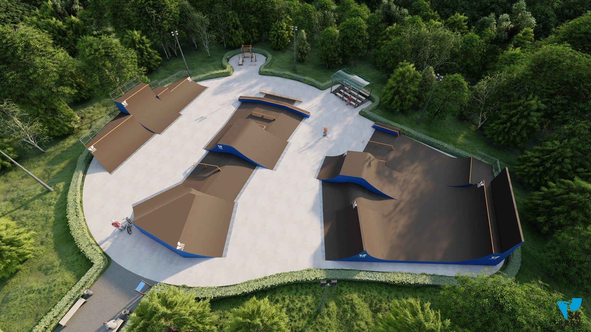 Проект универсального скейт парка, ориентированного для катания райдеров всех дисциплин SK 47-30
