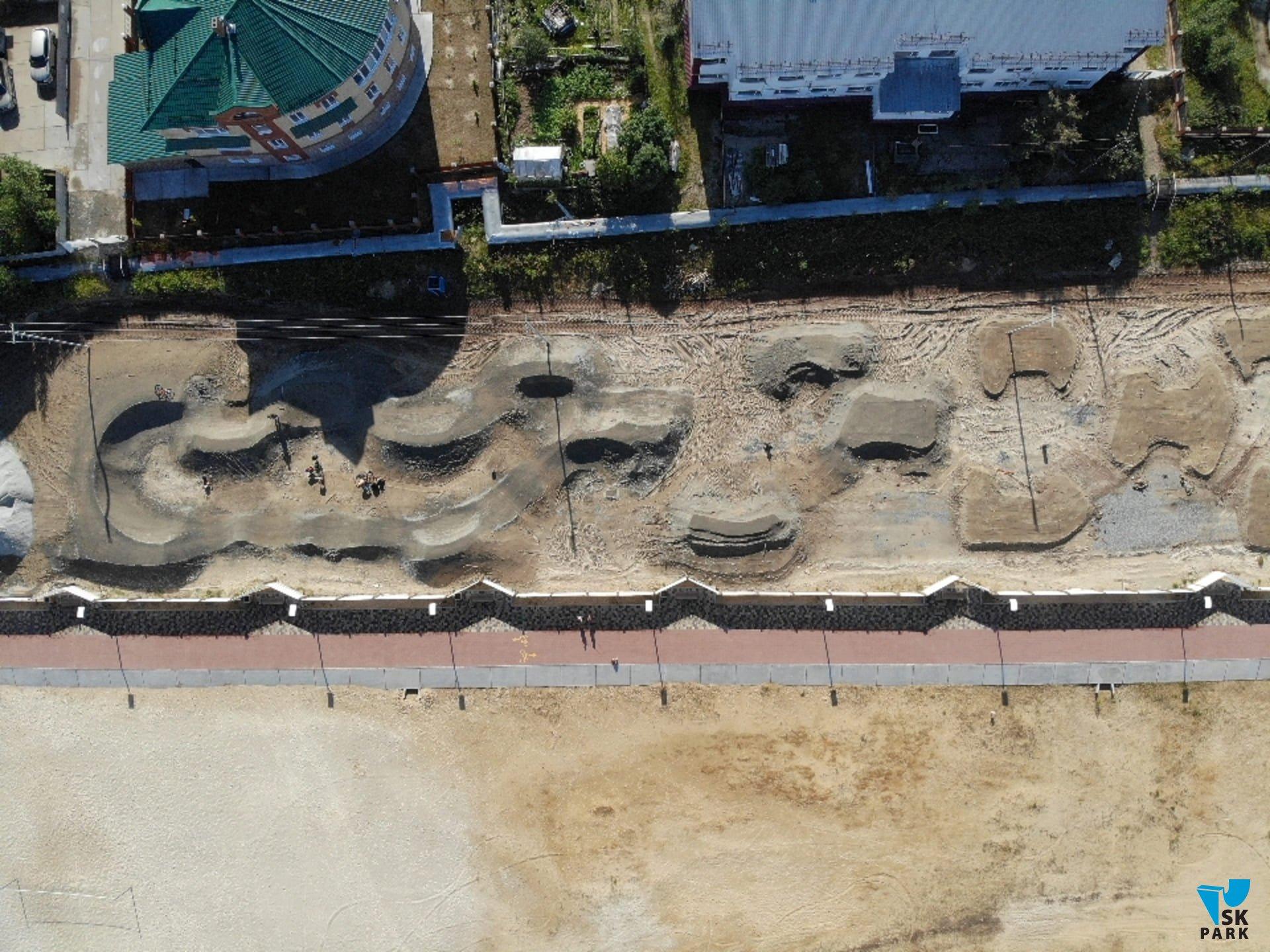 Компания SKpark приступила к строительству асфальтированного памп трека в г. Тарко Сале
