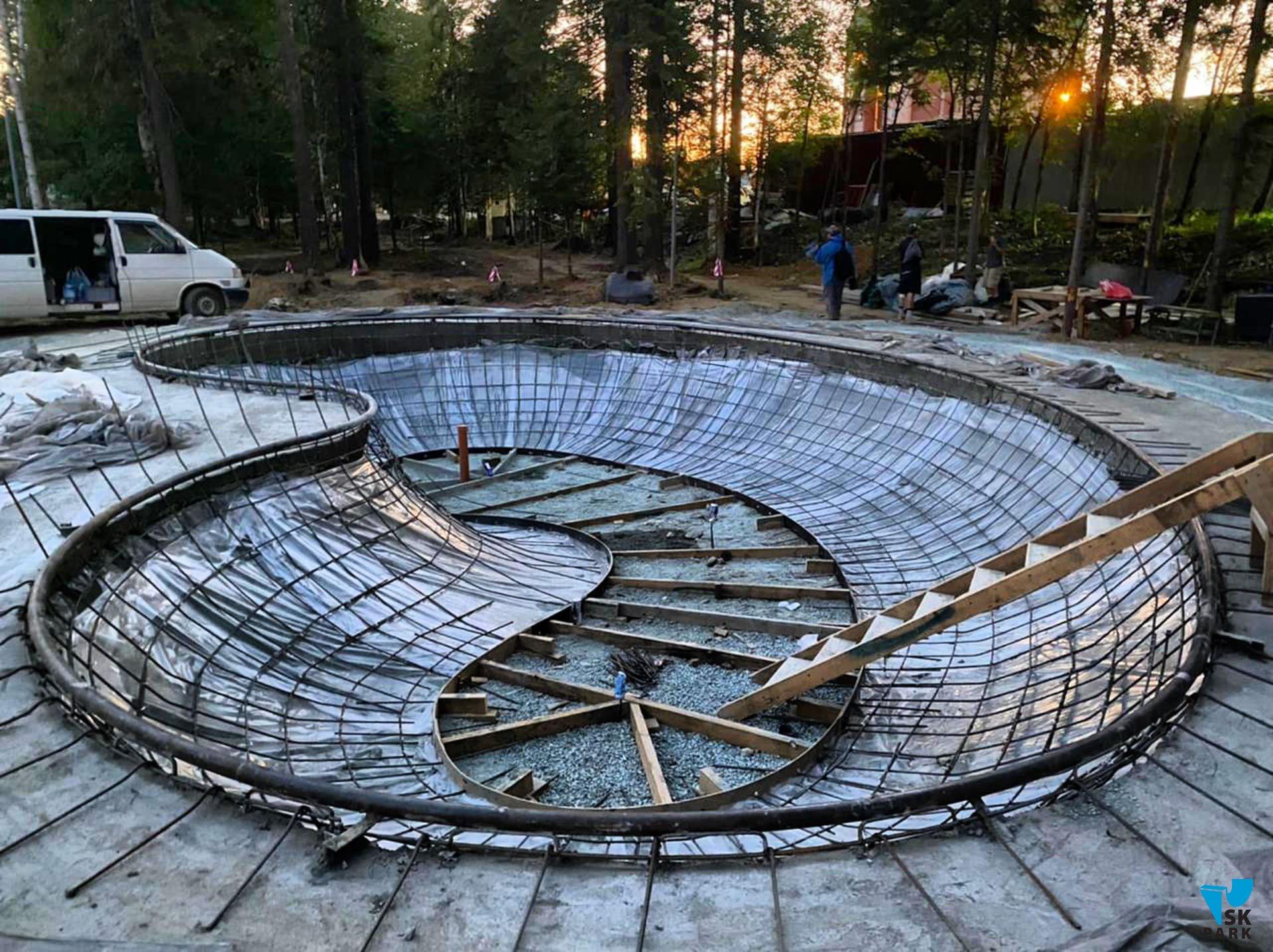Компания SKpark приступила к строительству бетонного боула в г. Новоуральске.