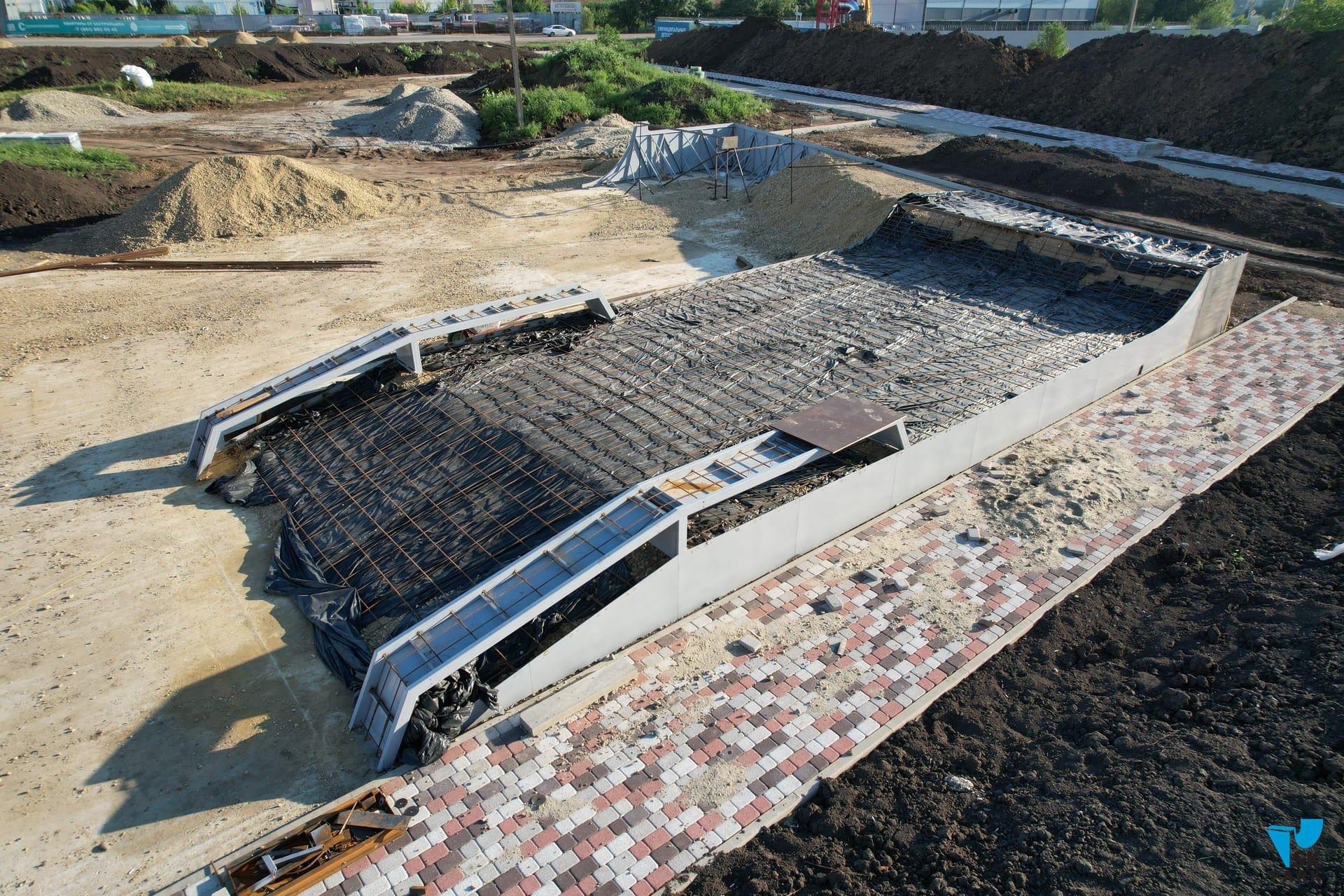 Компания SKpark приступила к строительству бетонного скейтпарка в Краснодаре